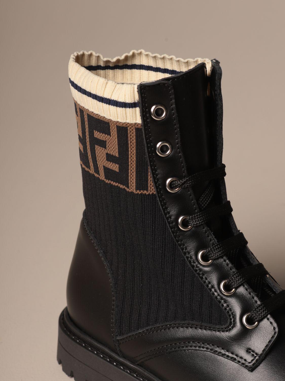 鞋履 Fendi: 鞋履 儿童 Fendi 黑色 4