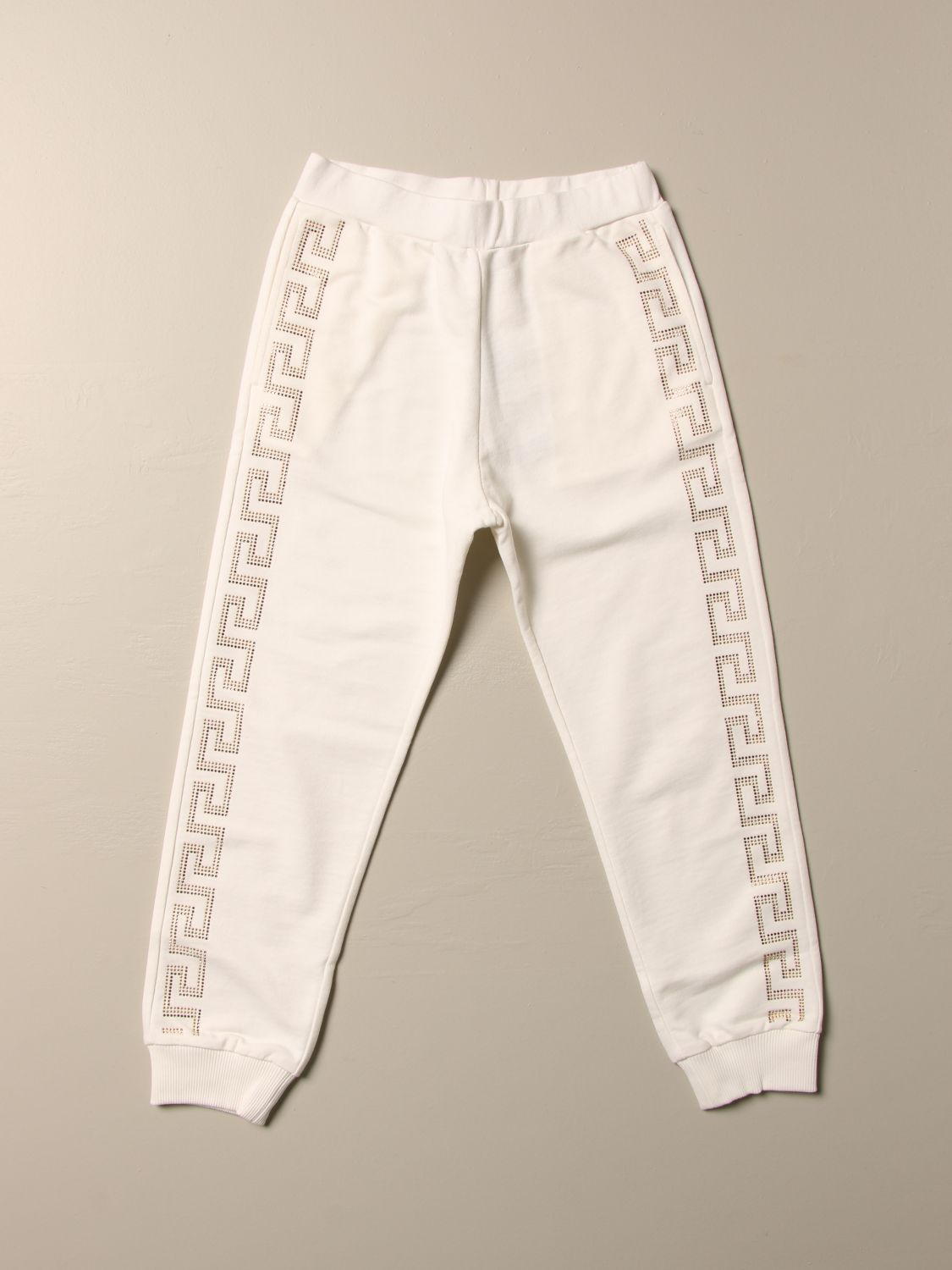 Pants Young Versace: Versace Young children's trousers white 1