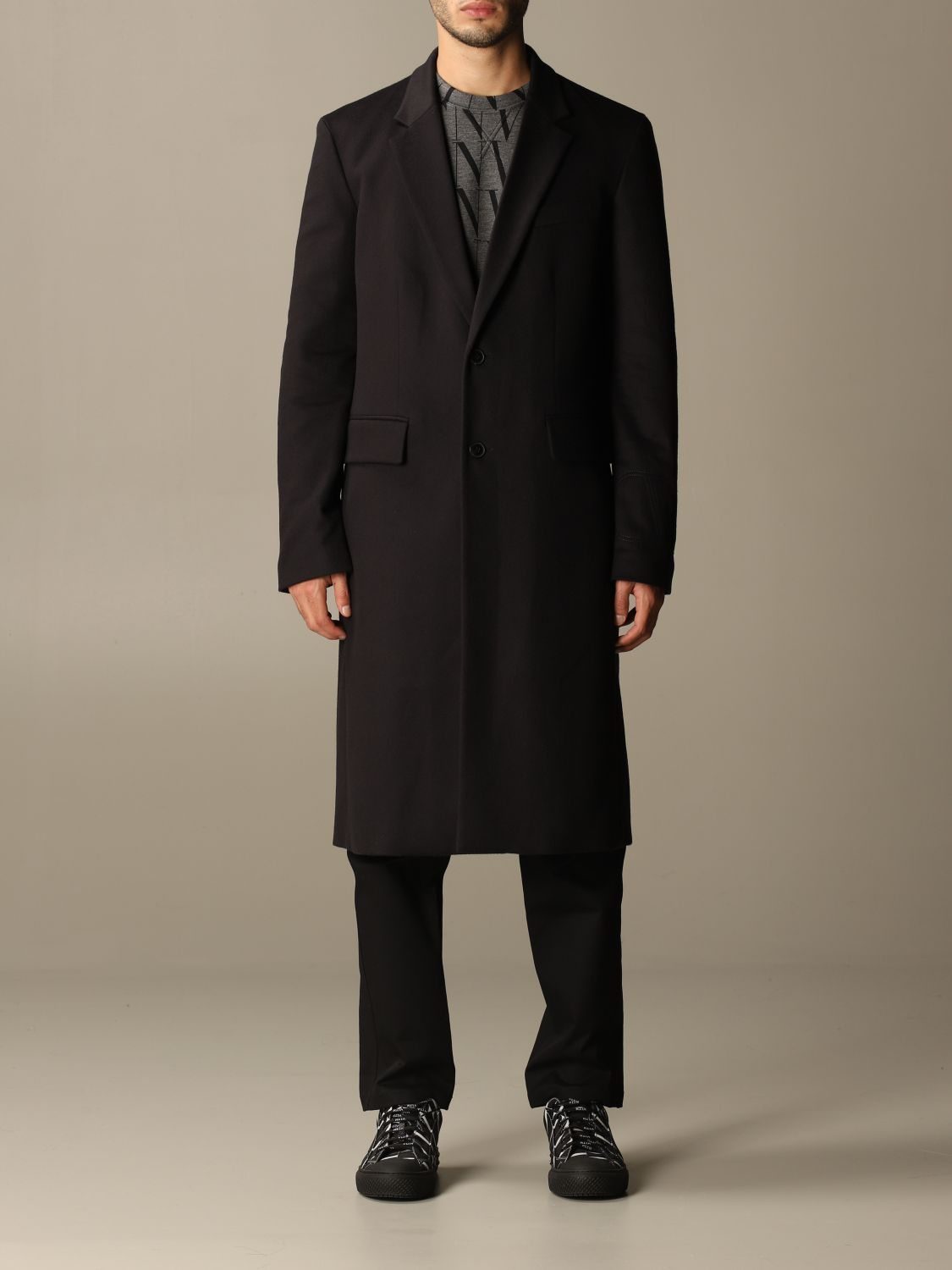 Coat Valentino: Coat men Valentino navy 1
