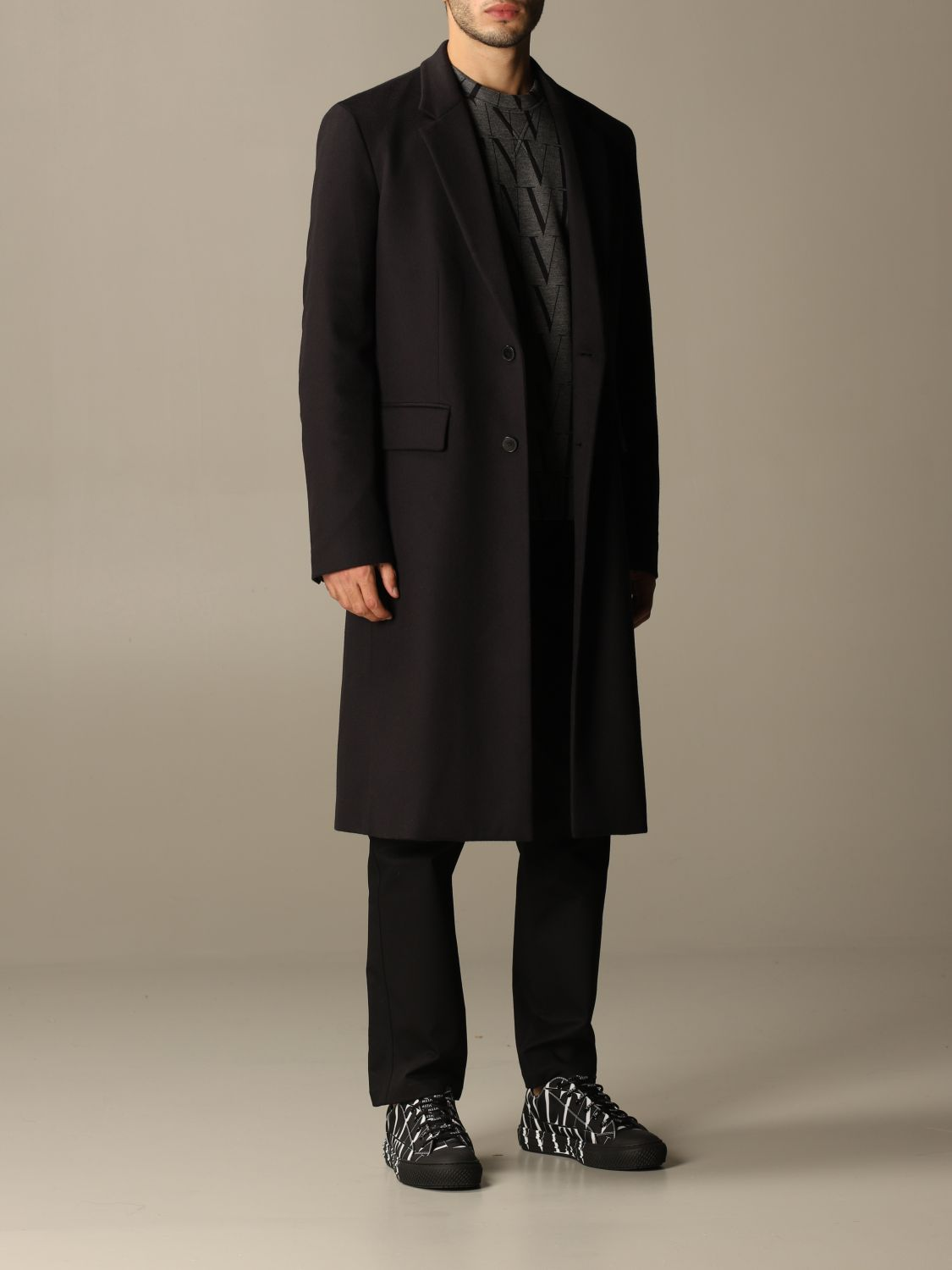 Coat Valentino: Coat men Valentino navy 2