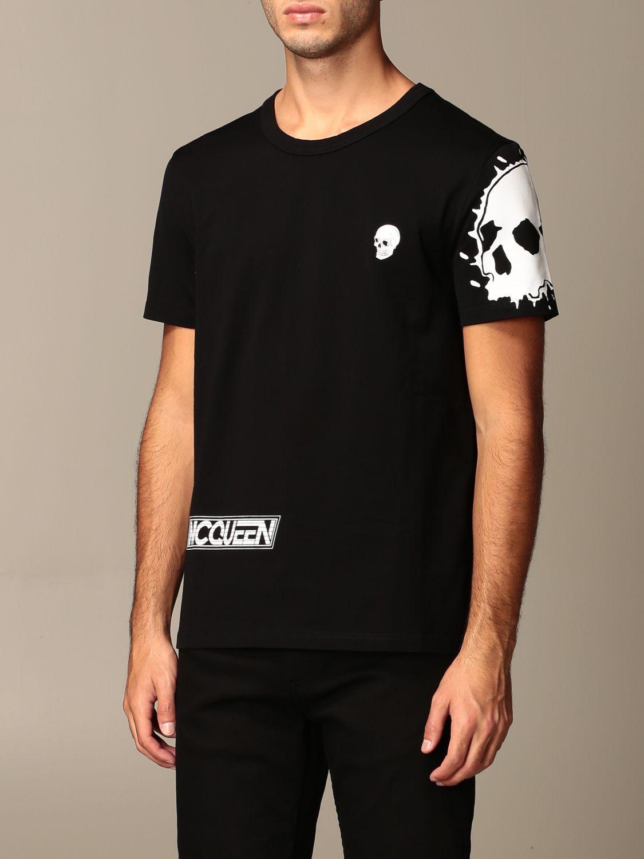 T-shirt Alexander Mcqueen: T-shirt homme Alexander Mcqueen noir 4
