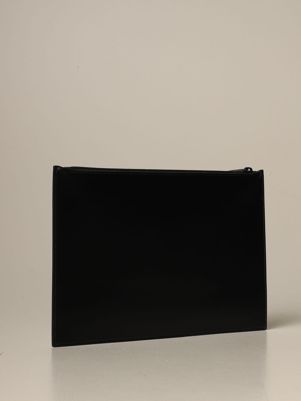 Portadocumenti Alexander Mcqueen: Pochette Alexander Mcqueen in pelle con logo nero 2