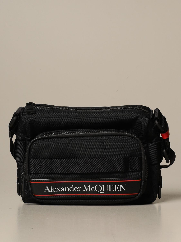 Shoulder bag Alexander Mcqueen: Alexander McQueen bag in technical fabric black 1