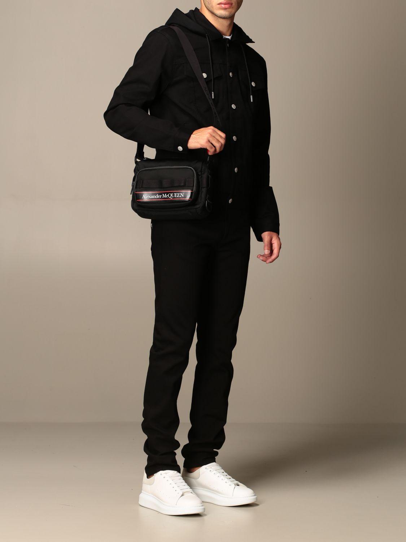 Shoulder bag Alexander Mcqueen: Alexander McQueen bag in technical fabric black 2