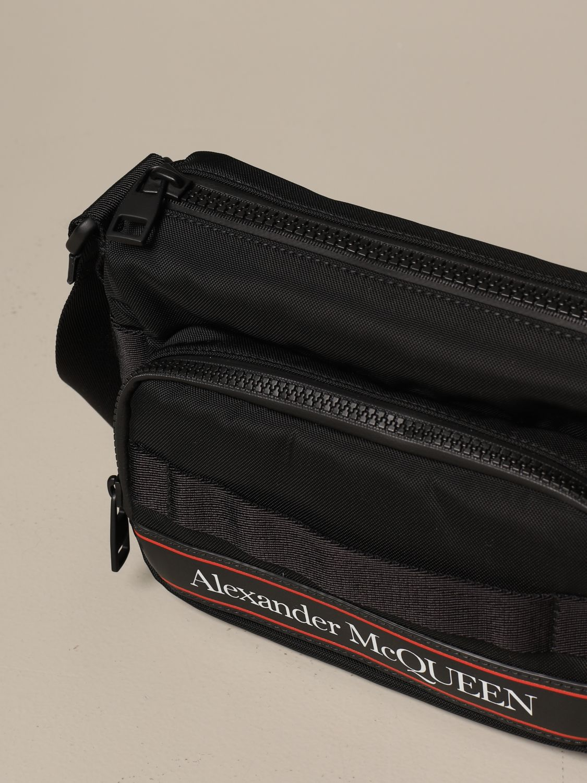Shoulder bag Alexander Mcqueen: Alexander McQueen bag in technical fabric black 4