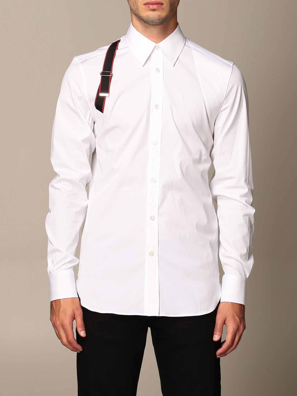 Shirt Alexander Mcqueen: Alexander McQueen shirt with buckle white 1