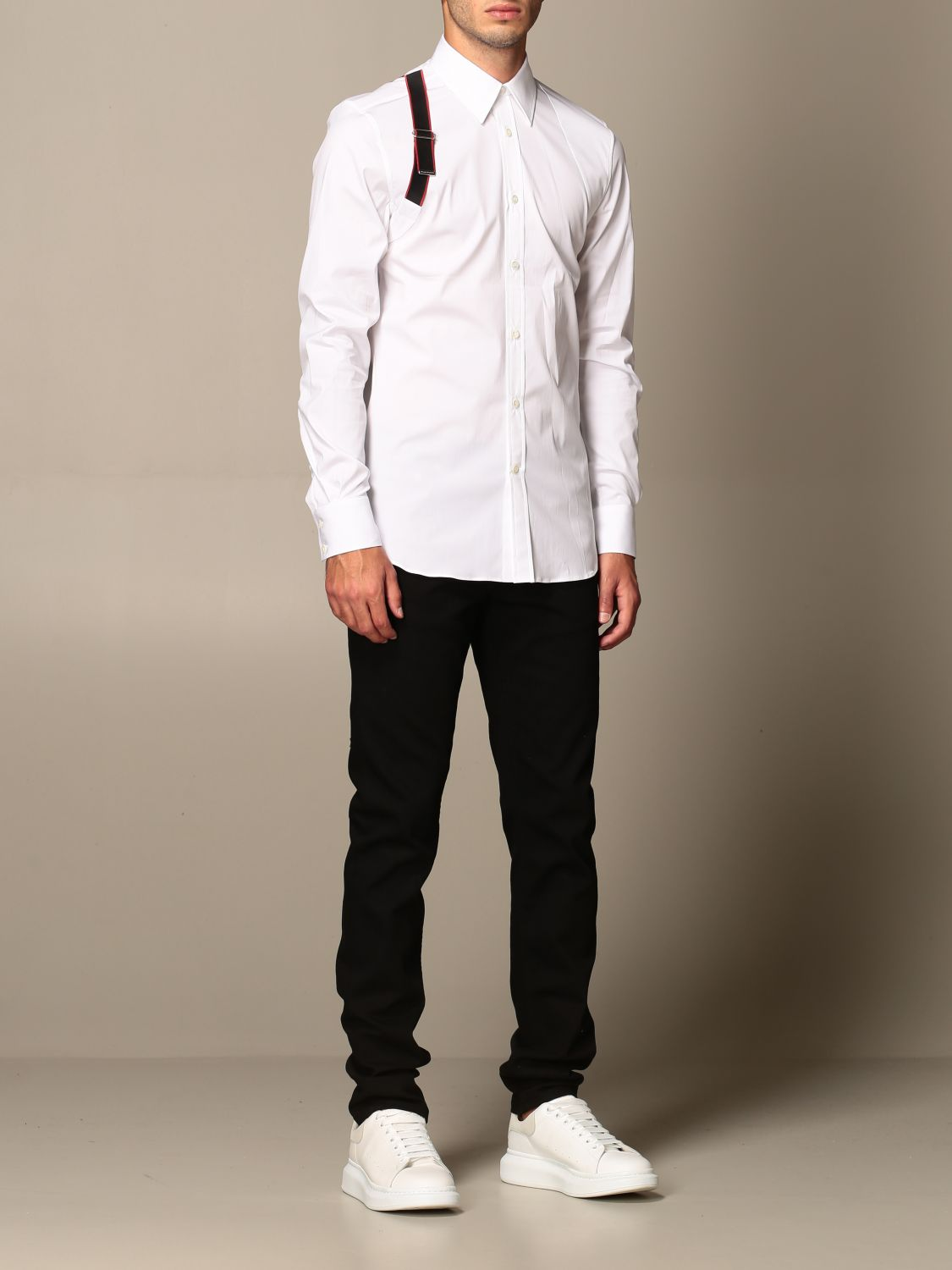 Shirt Alexander Mcqueen: Alexander McQueen shirt with buckle white 2