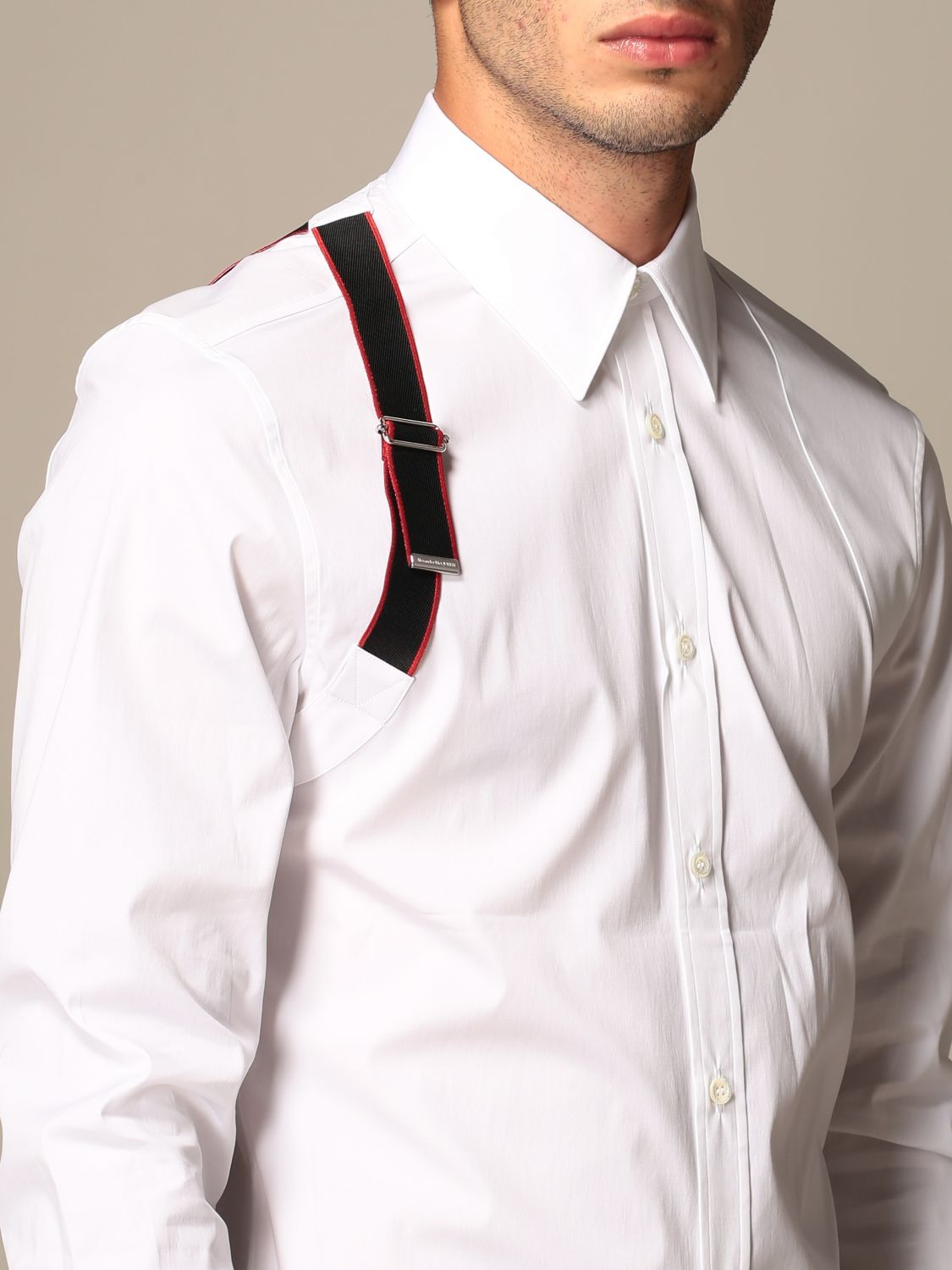 Shirt Alexander Mcqueen: Alexander McQueen shirt with buckle white 4
