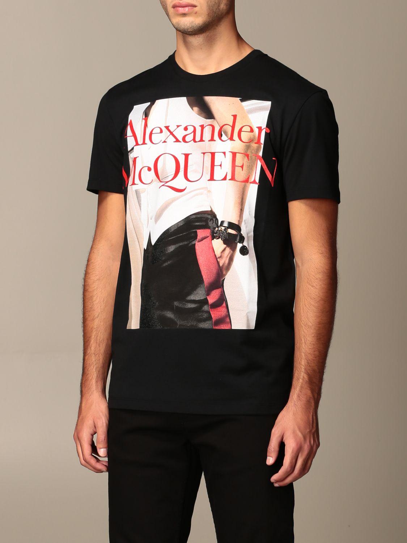 T-shirt Alexander Mcqueen: T-shirt men Alexander Mcqueen black 4