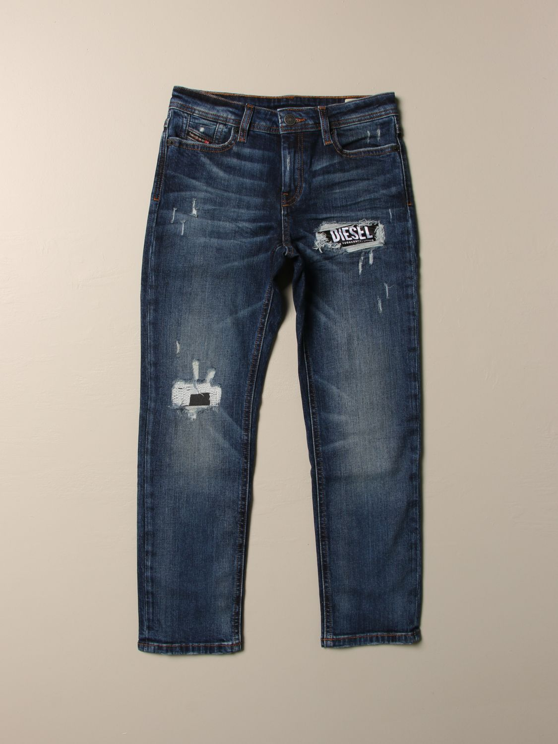 Jeans Diesel: Jeans Diesel in denim used con rotture denim 1
