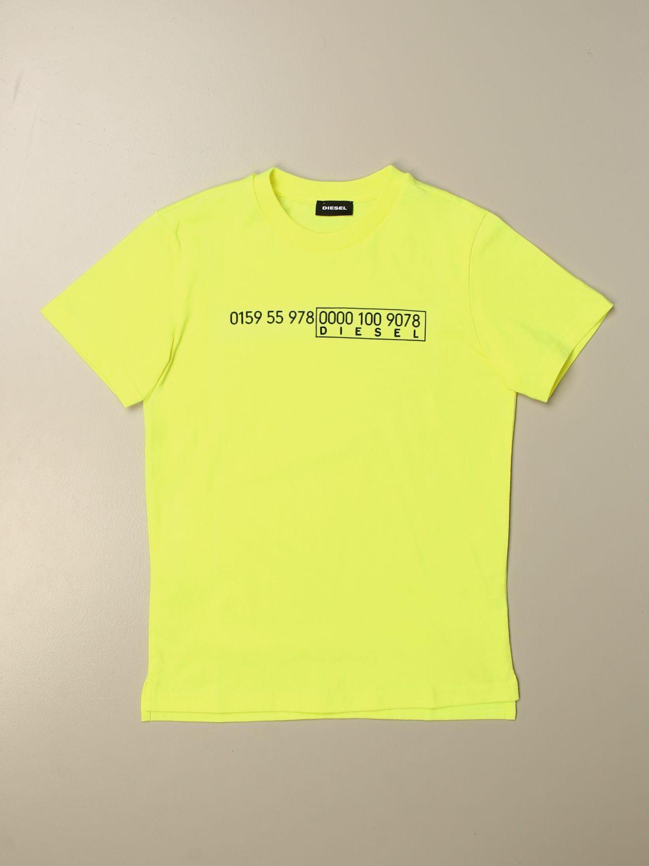 Camiseta Diesel: Camiseta niños Diesel amarillo 1