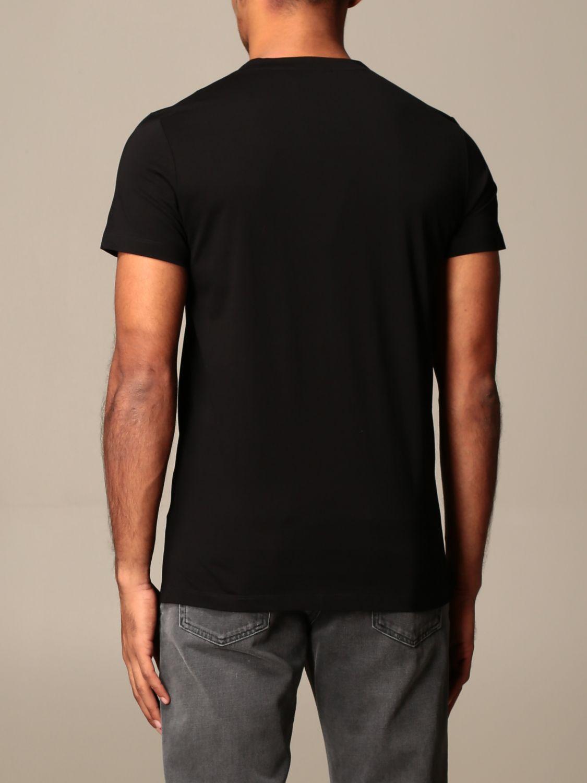 T-shirt Balmain: T-shirt Balmain con logo a contrasto nero 2