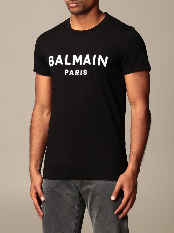 T-shirt Balmain: T-shirt Balmain con logo a contrasto nero 3