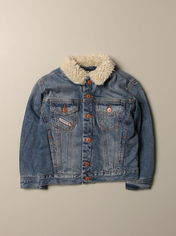 Giacca Diesel: Giacca di jeans Diesel con colletto di pelliccia sintetica denim 1