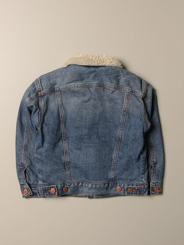 Giacca Diesel: Giacca di jeans Diesel con colletto di pelliccia sintetica denim 2