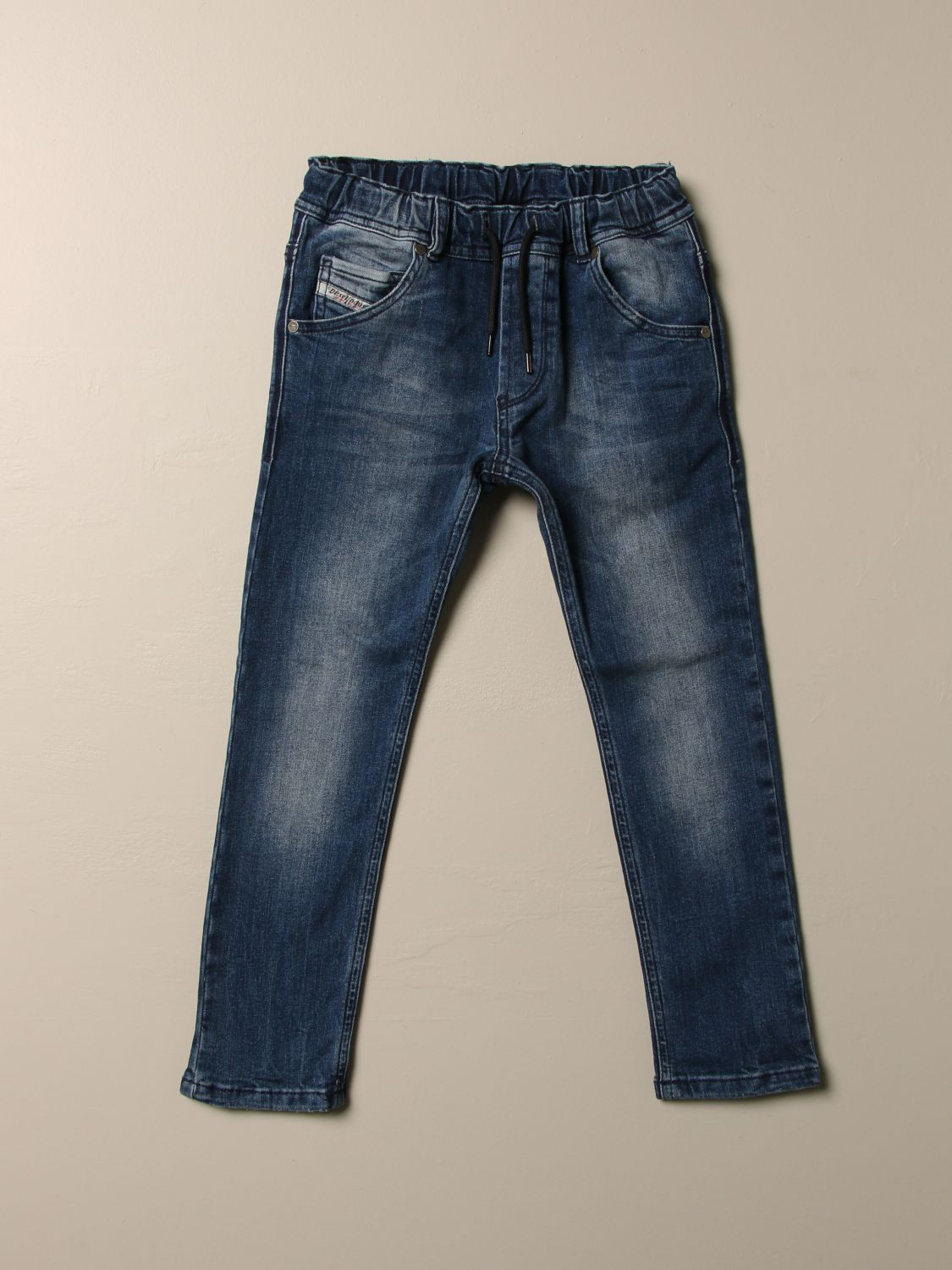Pantalone Diesel: Jeans Diesel in denim used con coulisse denim 1