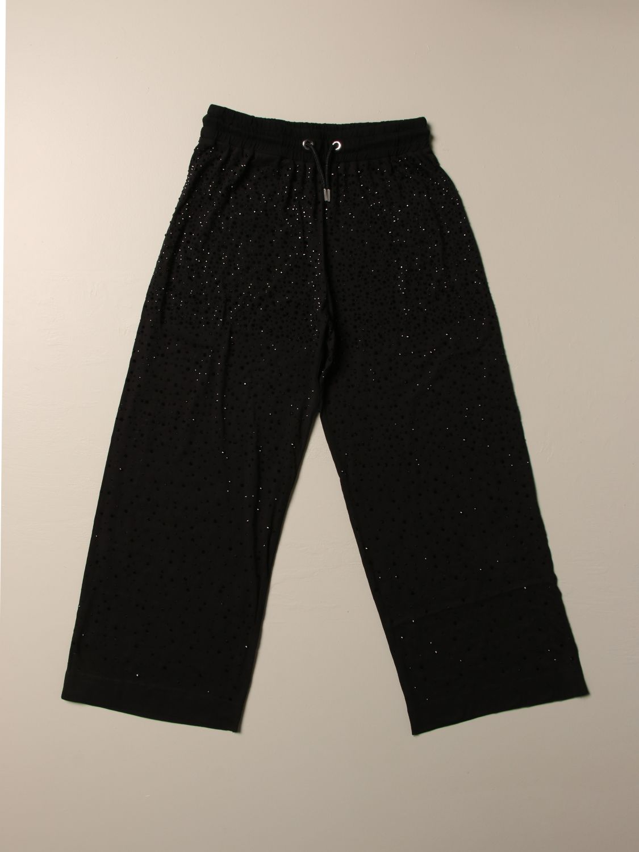 Pantalone Diesel: Pantalone jogging Diesel ampio con micro strass all over nero 1