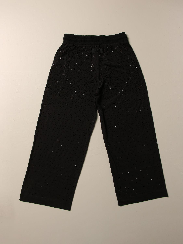 Pantalone Diesel: Pantalone jogging Diesel ampio con micro strass all over nero 2