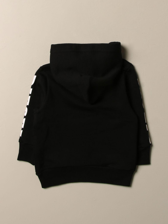 Maglia Diesel: Felpa Diesel in cotone con logo e zip nero 2
