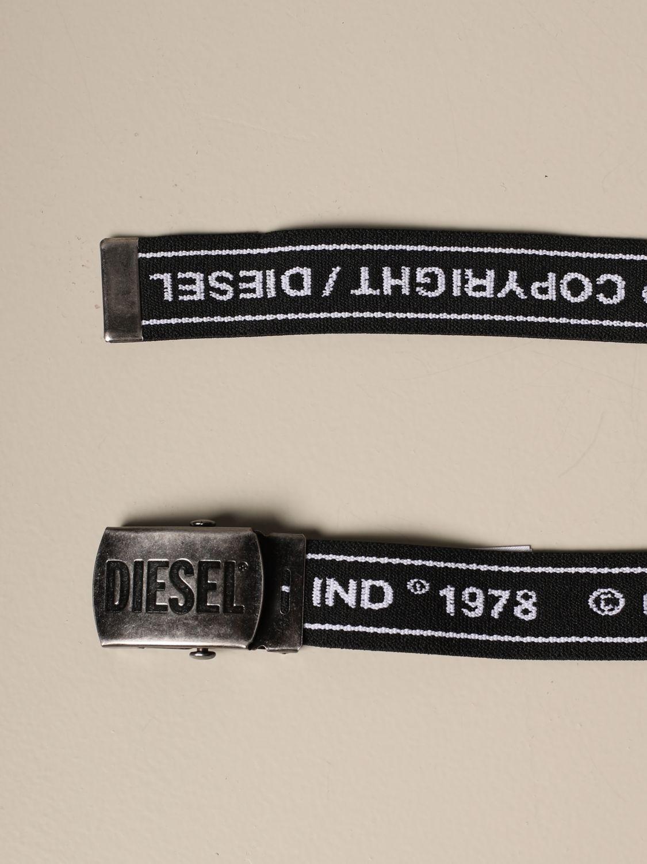 Cinturón Diesel: Cinturón niños Diesel negro 2