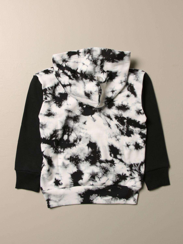 Maglia Diesel: Felpa Diesel in cotone con logo e stampa tie-dye nero 2
