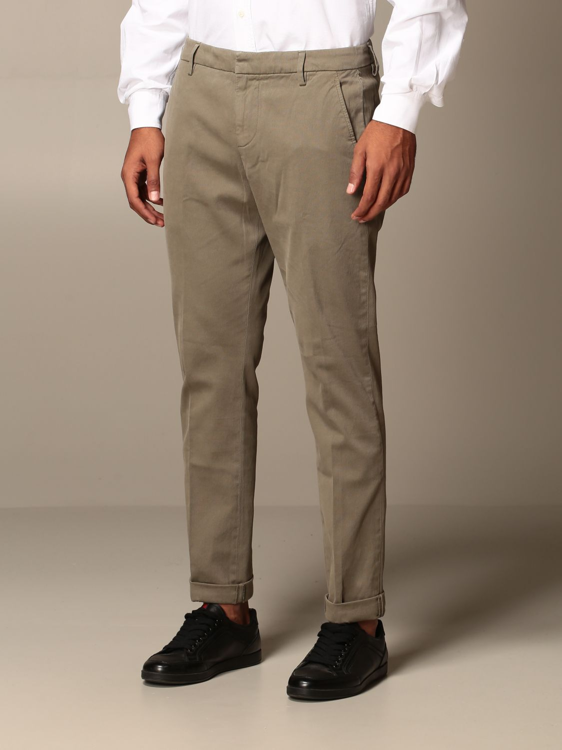 Pants Dondup: Pants men Dondup mud 3