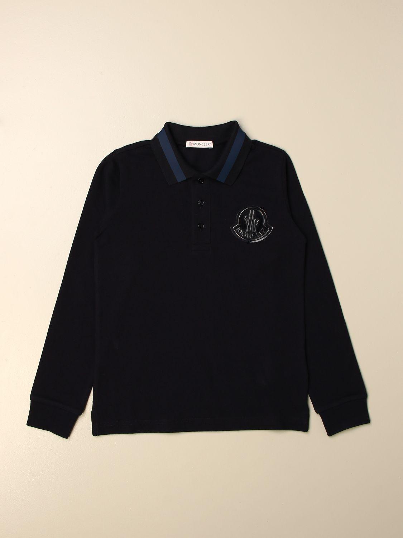 Polo Moncler: Polo Moncler con logo blue 1