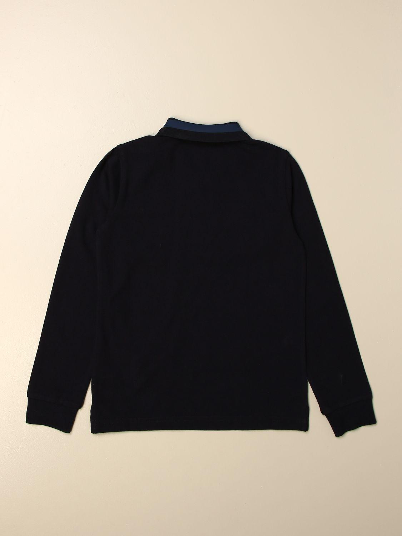 Polo Moncler: Polo Moncler con logo blue 2