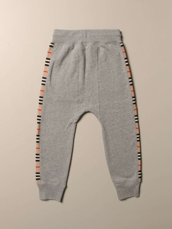 Pantalón Burberry: Pantalón niños Burberry gris 2