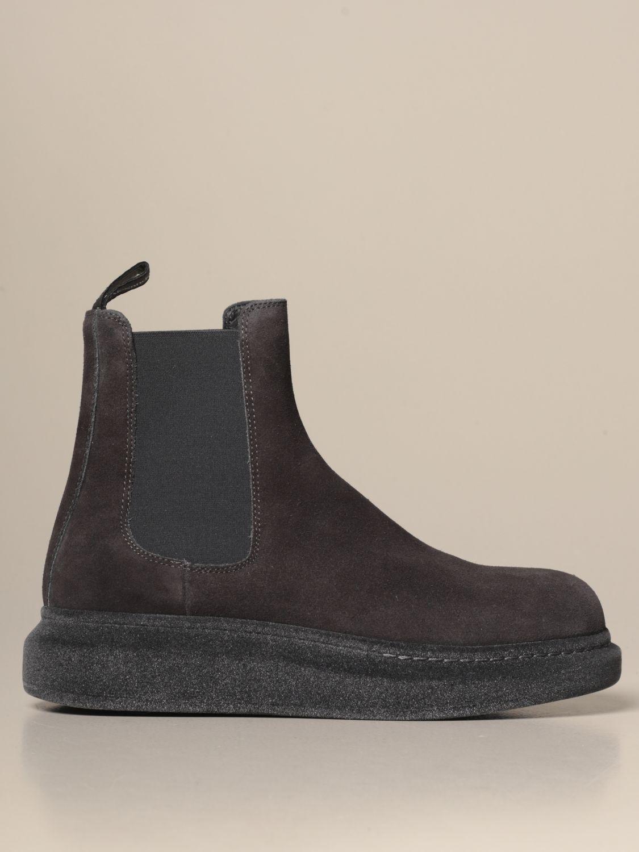 Ботинки челси Alexander Mcqueen: Обувь Мужское Alexander Mcqueen серебряный 1