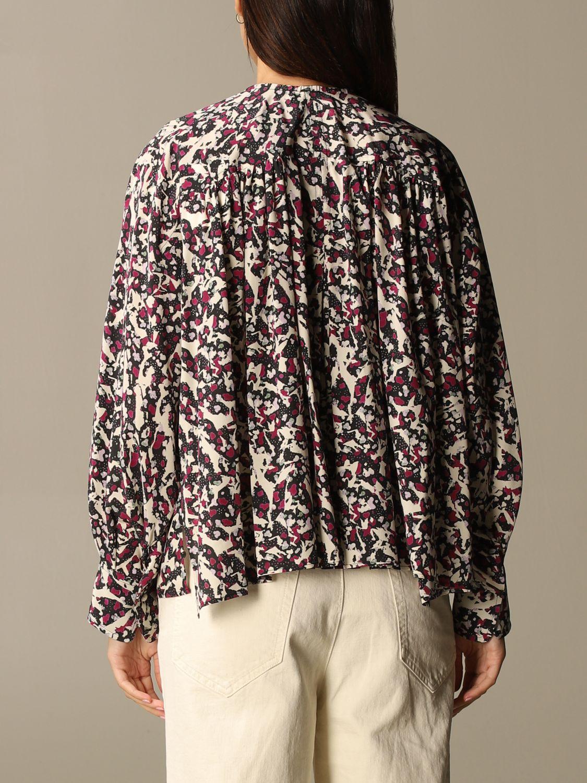 Top Isabel Marant: Isabel Marant patterned blouse black 3