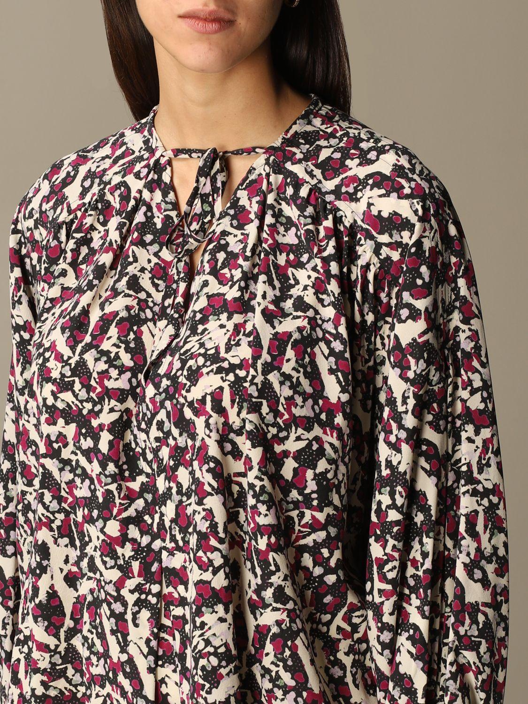 Top Isabel Marant: Isabel Marant patterned blouse black 4