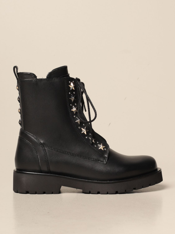 Bottines plates Twin Set: Chaussures femme Twin Set noir 1
