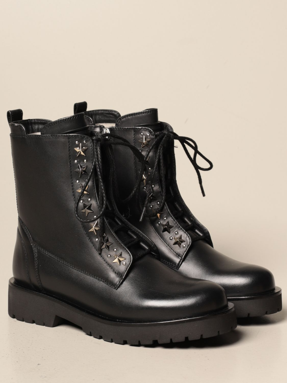 Bottines plates Twin Set: Chaussures femme Twin Set noir 2