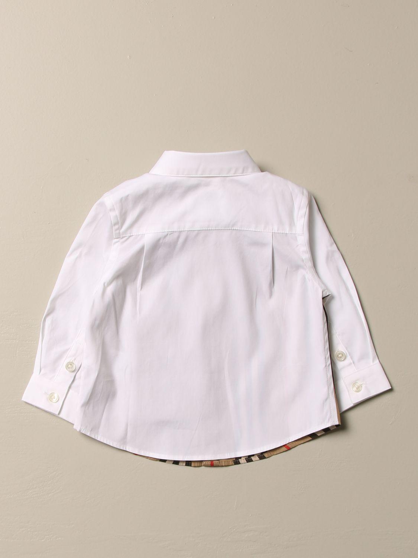 Camicia Burberry: Camicia Burberry in cotone stretch con motivo a righe beige 2