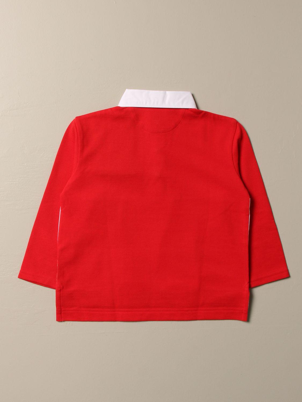 Polo Shirt Burberry: Burberry cotton polo shirt with check band red 2