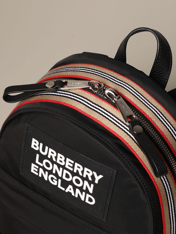 Borsa Burberry: Zaino Burberry in in eco-nylon sostenibile con motivo a righe nero 3