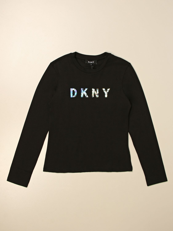 Camisetas Dkny: Camisetas niños Dkny negro 1