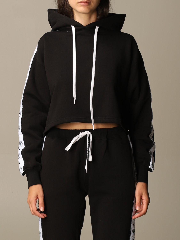 Sweatshirt Chiara Ferragni: Sweatshirt women Chiara Ferragni black 1