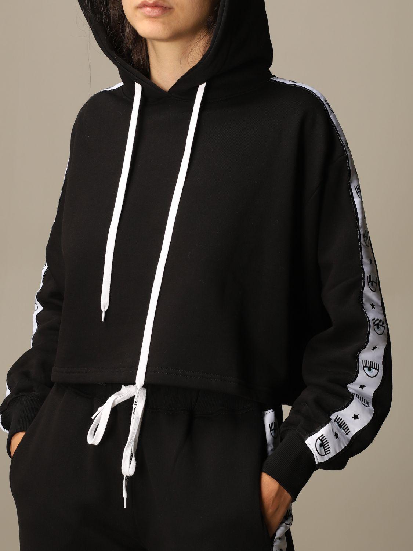 Sweatshirt Chiara Ferragni: Sweatshirt women Chiara Ferragni black 4