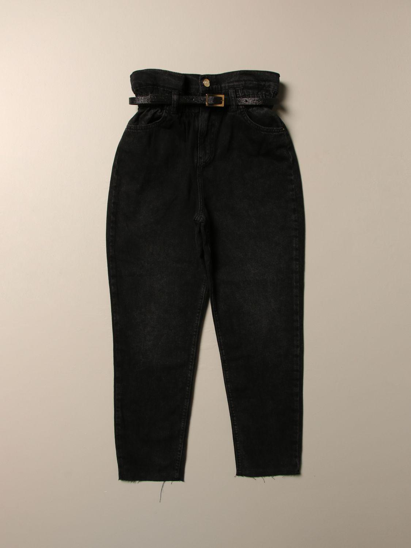 Jeans Liu Jo: Liu Jo high-waisted jeans with belt black 1