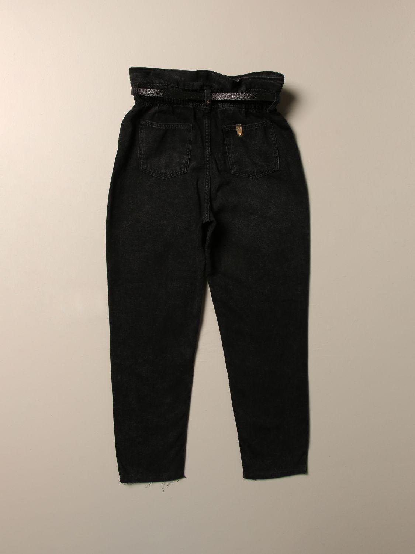 Jeans Liu Jo: Liu Jo high-waisted jeans with belt black 2
