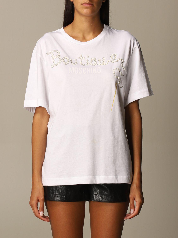 T-Shirt Boutique Moschino: T-shirt women Boutique Moschino white 1