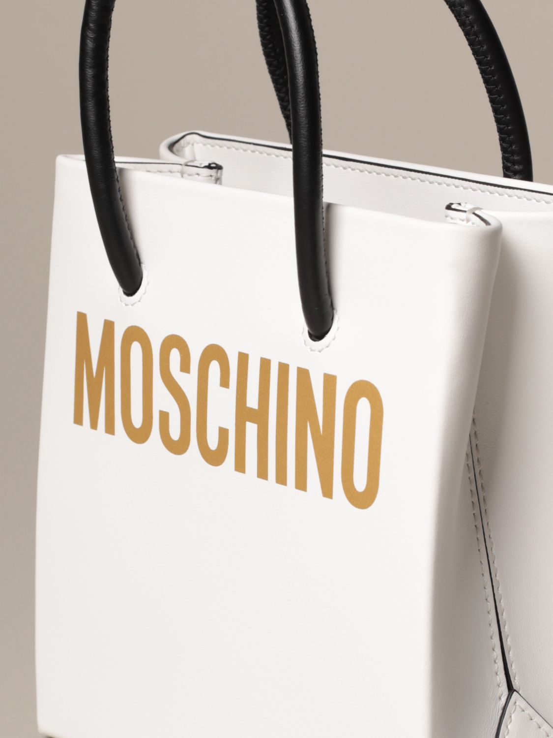 Tote bags Moschino Couture: Tote bags women Boutique Moschino white 4