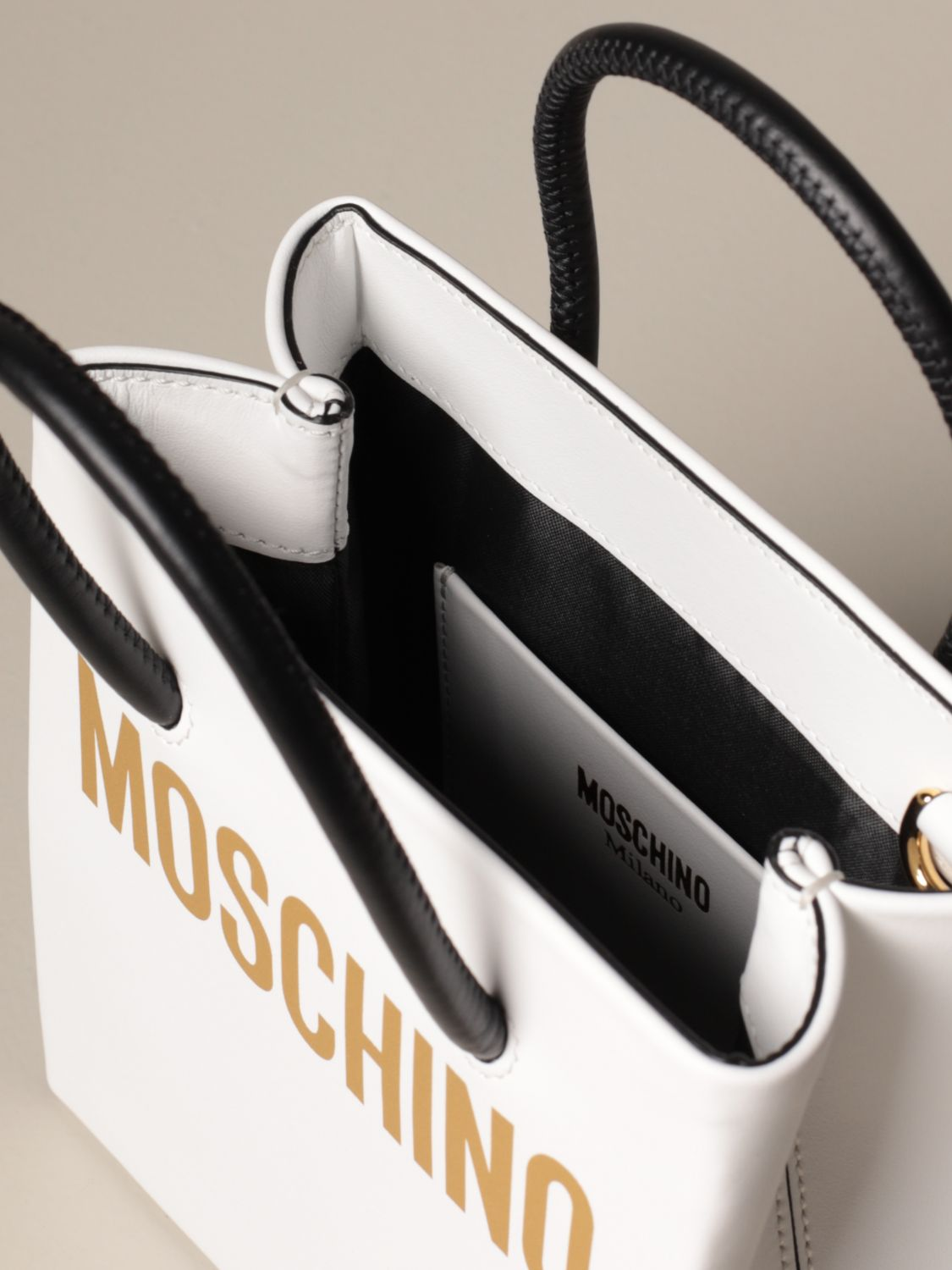 Tote bags Moschino Couture: Tote bags women Boutique Moschino white 5