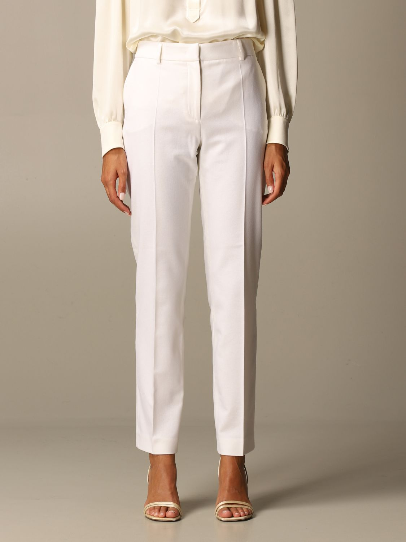 Pantalon Alberta Ferretti: Pantalon femme Alberta Ferretti jaune crème 1