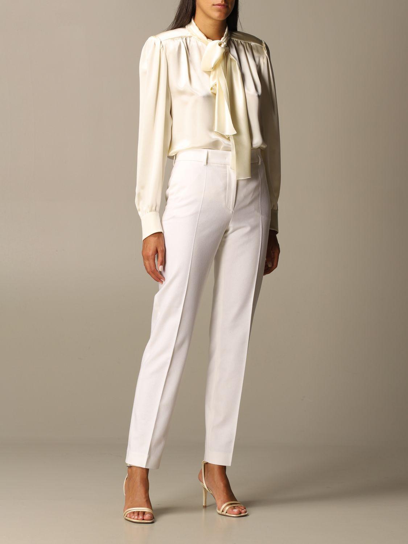 Pantalon Alberta Ferretti: Pantalon femme Alberta Ferretti jaune crème 2