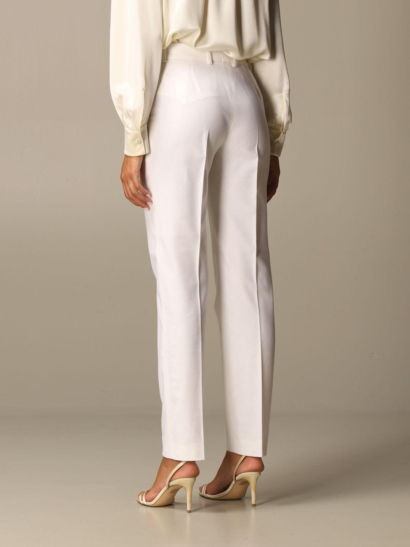 Pantalon Alberta Ferretti: Pantalon femme Alberta Ferretti jaune crème 3