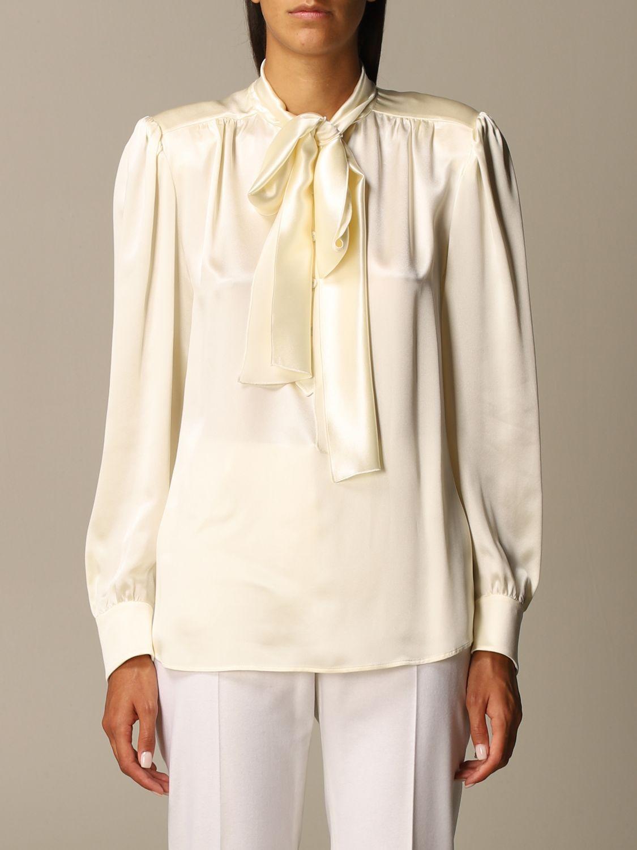 Shirt Alberta Ferretti: Shirt women Alberta Ferretti yellow cream 1