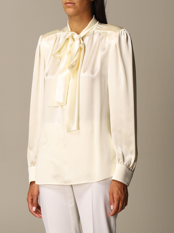 Shirt Alberta Ferretti: Shirt women Alberta Ferretti yellow cream 4